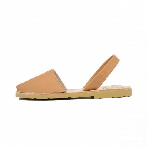 Avarca Mibo Sandale AVARCA din piele naturala - Bej