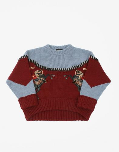 Dsquared2 Kids Wool Oversized Sweater Multicolor