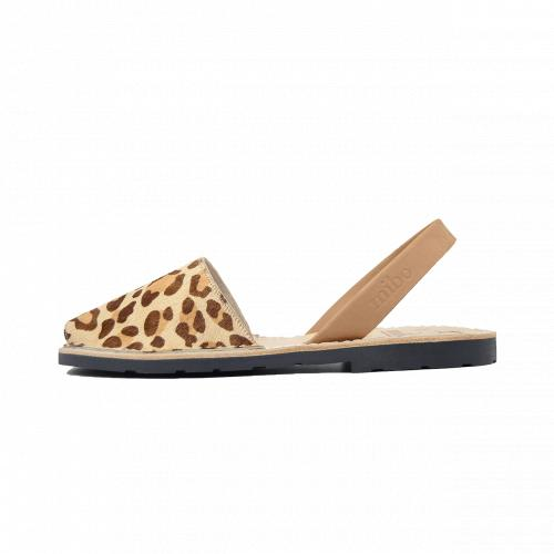 Avarca Mibo Sandale AVARCA din piele naturala - Leopard Print