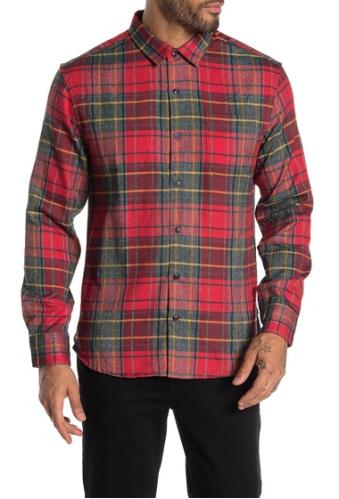 7 Diamonds Imbracaminte Barbati Young Blood Plaid Flannel Shirt CARMINE
