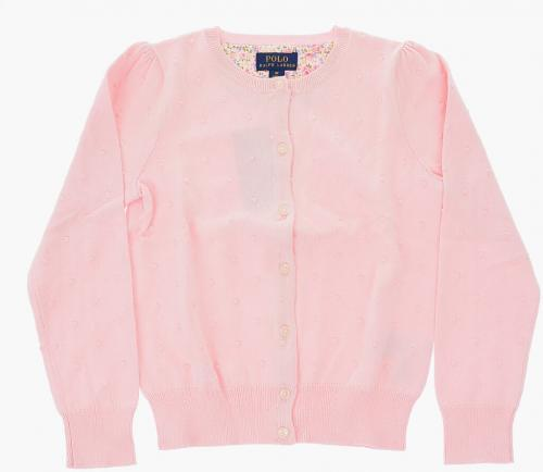 Polo Ralph Lauren Kids Embroidered Spring Ii Cardigan Pink
