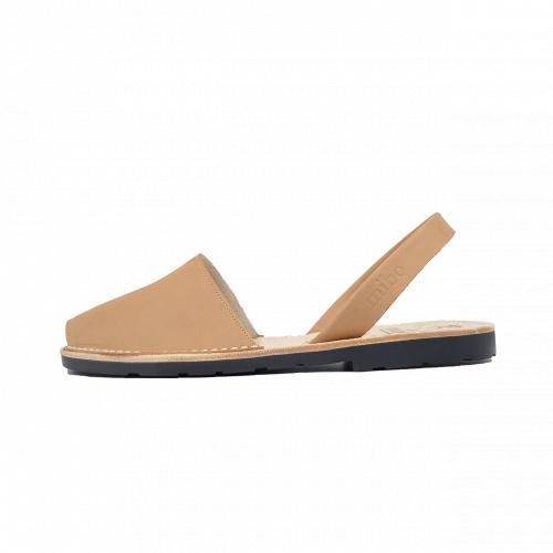 Avarca Mibo Sandale AVARCA din piele intoarsa - Maro