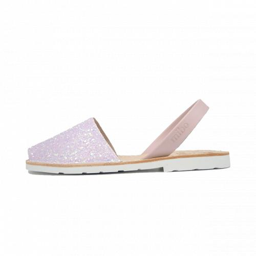 Avarca Mibo Sandale AVARCA din piele naturala - Glitter Roz Deschis