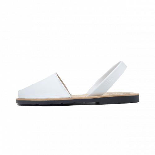 Avarca Mibo Sandale AVARCA din piele naturala - Alb