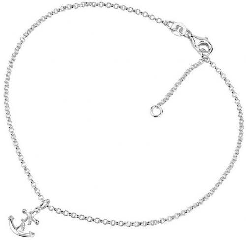 Silvego Lanț de picior din argint cu Vesper și Ancoră ZTD26509