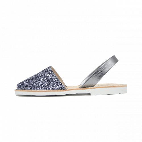 Avarca Mibo Sandale AVARCA din piele naturala - Glitter Antracit