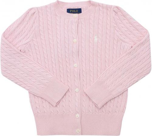 Ralph Lauren Cable-Knit Cardigan In Pink 311543047010 Pink