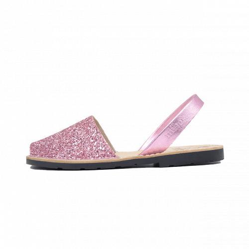 Avarca Mibo Sandale AVARCA din piele naturala - Glitter Roz
