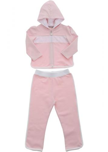 Moncler Kids Logo Patch Tracksuit In Pink 8M75210899AR500 Pink