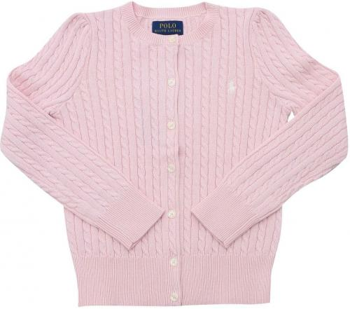 Ralph Lauren Cable-Knit Cardigan In Pink 312543047010 Pink