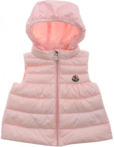 Moncler Kids New Suzette Padded Waistcoat In Pink 1A1061053048503 Pink