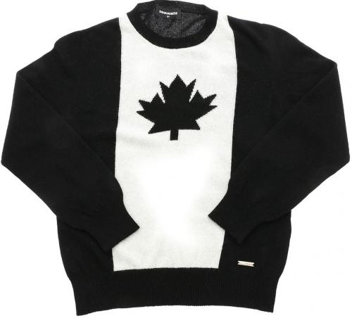 DSQUARED2 Logo Inlay Pullover In Black And White DQ04A1 D00NU DQ900 Black