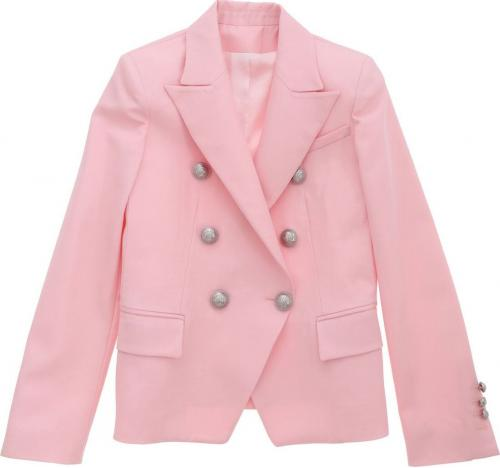 Balmain Jacket In Pink With Embossed Buttons 6M2054MD570505 Pink