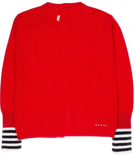 Marni Kids Button Sweater In Red M00048M00J70M417 Red