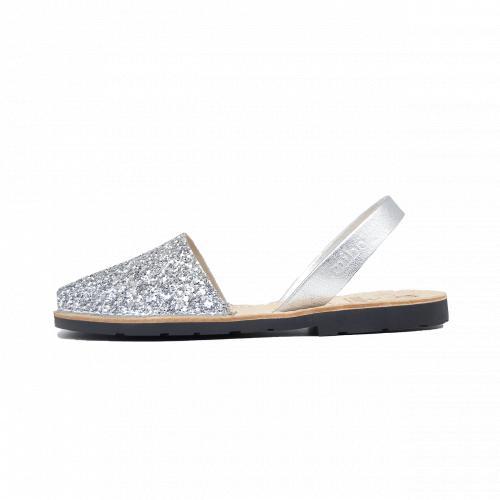 Avarca Mibo Sandale AVARCA din piele naturala - Glitter Alb