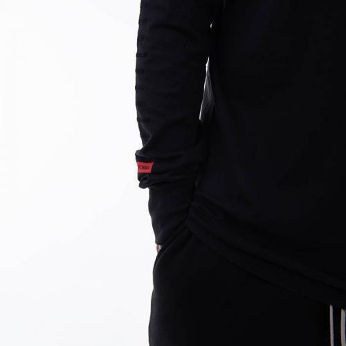 Rick Owens DRKSHDW Longsleeve Level Tee DU20F1260 RNEP4 BLACK/BLACK