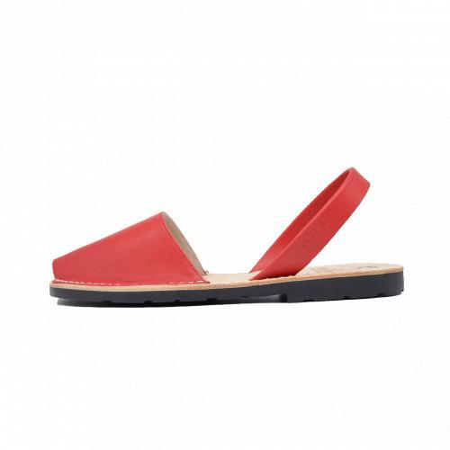 Avarca Mibo Sandale AVARCA din piele naturala - Rosu