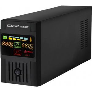 Qoltec Uninterruptible Power Supply | Monolith | 600VA | 360W | LCD | USB  (53951)