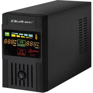 Qoltec Uninterruptible Power Supply | Monolith | 1000VA | 600W | LCD | USB (53953)