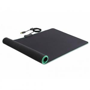Delock Mousepad   RGB LED, Black 12556