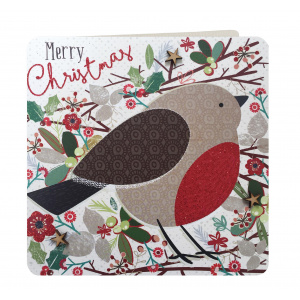 Laura Darrington Design Felicitare - Merry Christmas (Robin)