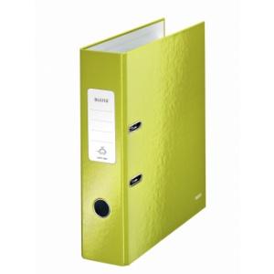Leitz Biblioraft 180 Wow, 85mm, plastic PP - verde metalizat