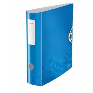 Leitz Biblioraft Active Wow 180, 75mm, plastic PP - albastru metalizat