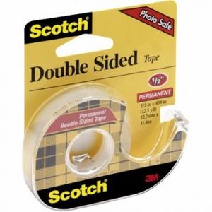 SCOTCH Banda dublu adeziva, 12mm x 6.3m, + dispenser