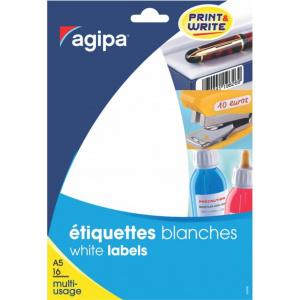 AGIPA Etichete rotunde 96/A5 diametru 15mm 10 coli 114313 rosu