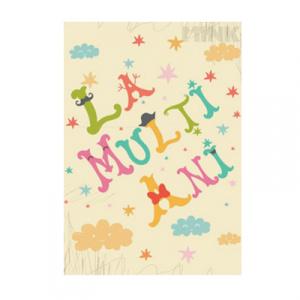 Mink Felicitare - La multi ani - Happy Letters