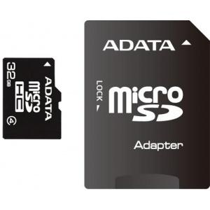 A-Data microSDHC 32GB Class4  + adaptor (AUSDH32GCL4-RA1)