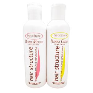 Bacchara Set Cream si Mousse Henna profesionale pentru par degradat  250ml