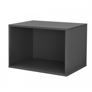[en.casa] Dulap design combinat – sistem rafturi de perete - 45x30x30 cm - gri