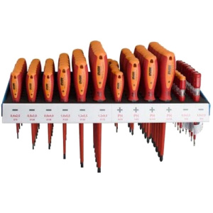 Unior 607MD3 - Set surubelnite cu profil PH si plat, 80 bucati, izolatie 1000 V