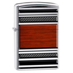 Zippo Steel & Wood Design 28676