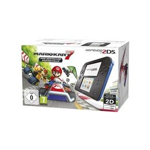 Nintendo Consola 2Ds Black And Blue With Mario Kart 7