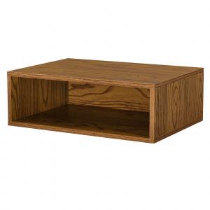[en.casa] Dulap design combinat – sistem rafturi de perete - 45x15x30 cm - efect lemn de nuc