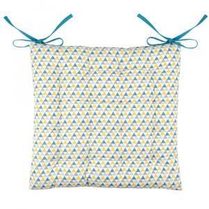 Stof Perna scaun albastra cu triunghiuri - Isocele
