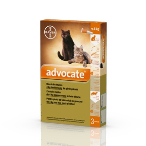 Bayer Advocate Cat 0 4 kg x 3 pipete