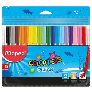 Maped Carioci 18 culori Color Peps Ocean 845721