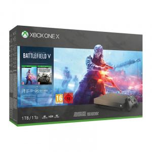 Microsoft Consola Xbox One X 1TB cu Battlefield V Gold Rush Special Edition