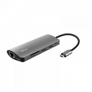 Trust #23775 Dalyx 7-in-1 USB-C Multiport Adapter