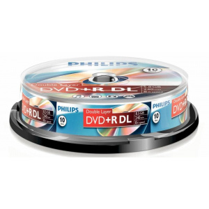 Philips DVD+R 8.5GB Double layer (10 buc. Spindle, 8x)