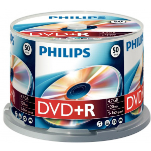 Philips DVD+R 4.7GB (50 buc. Spindle, 16x)