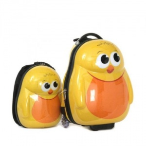 Cuties and Pals Ghiozdan si valiza tip trolley Chico the Chick
