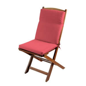 Stof Perna scaun gradina rosu pastel cu spatar