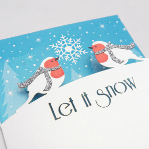Alljoy Design Felicitare - Let it Snow Birds