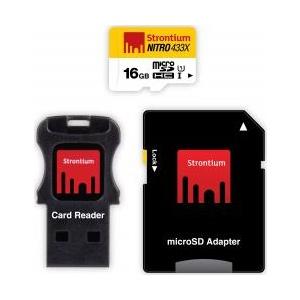 Strontium Nitro-16 16GB 433X microSDHC Adaptor + Card Rea