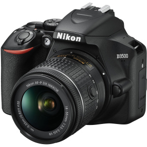 Nikon D3500 DSLR DX 24,2 MP Kit AF-P 18-55mm VR Negru