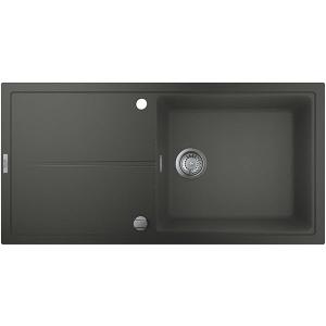 Grohe K400 31641AT0, 1 cuva, picurator reversibil, compozit quartz, antracit